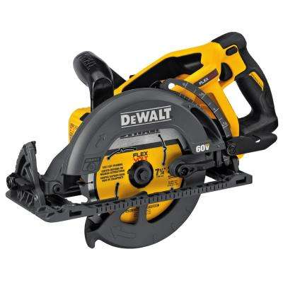 FLEXVOLT 60-Volt MAX Lithium-Ion Cordless Brushless 7-1/4 in. Wormdrive Style Circular Saw (Tool-Only)