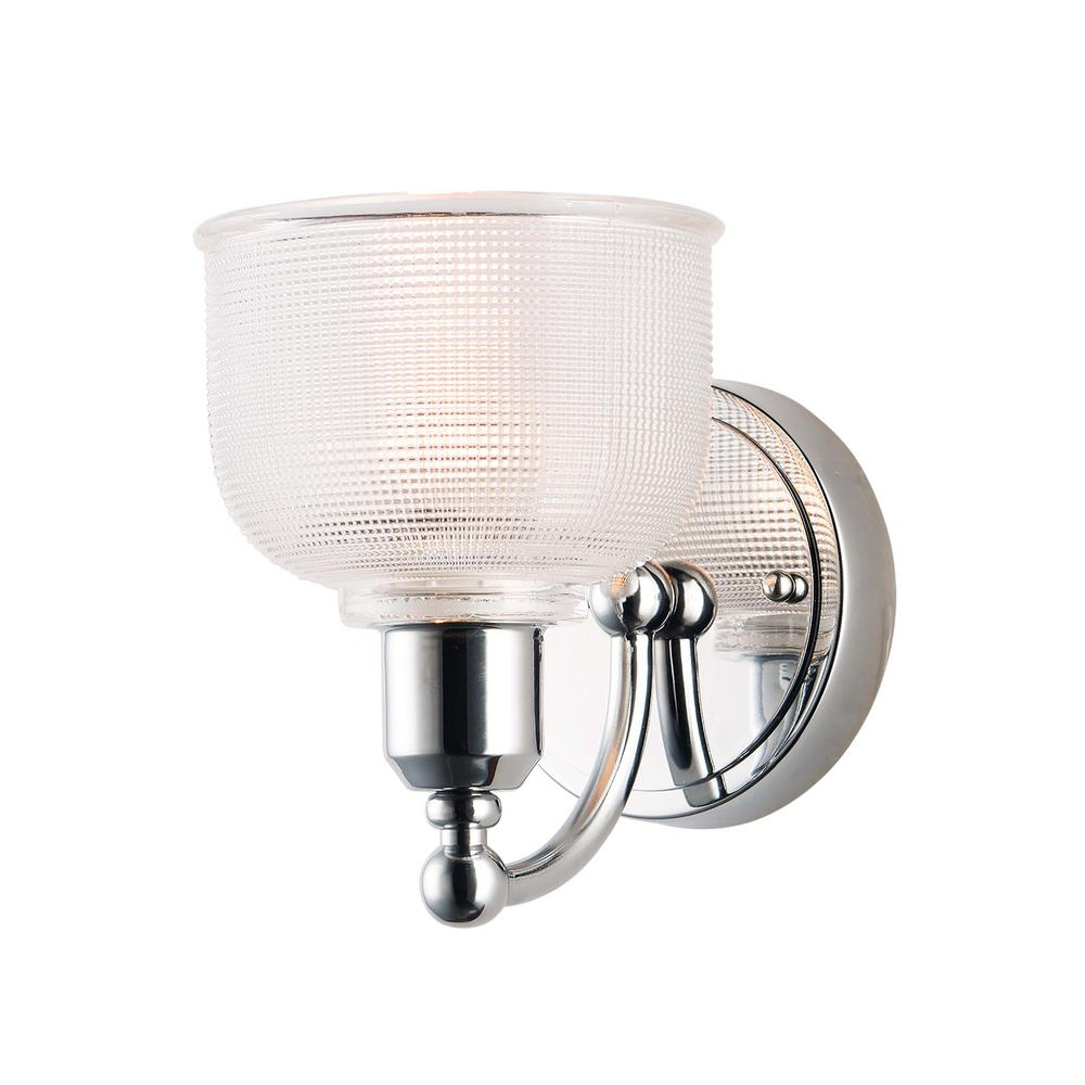 Hollow 6 in. Wide Polished Chrome Sconce