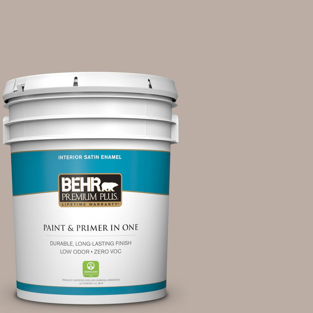 BEHR Premium Plus 5-gal. #N200-3 Nightingale Gray Satin Enamel Interior Paint