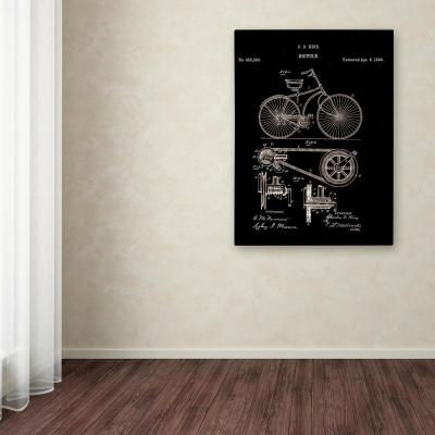 """32 in. x 24 in. """"Bicycle Patent 1890"""" by Claire Doherty Printed Canvas Wall Art"""