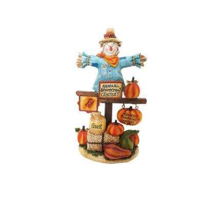 10 in. Harvest Decoration Annual Scarecrow Contest Statuary