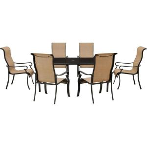 Hanover Brigantine 7-Piece Outdoor Rectangular Patio Dining Set with Glass-Top Table by Hanover