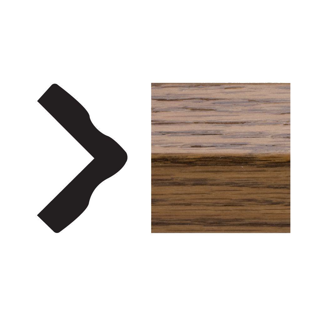 5165 1 in. x 1 in. x 8 ft. PVC Composite Highlands Oak Colonial Outside Corner Moulding