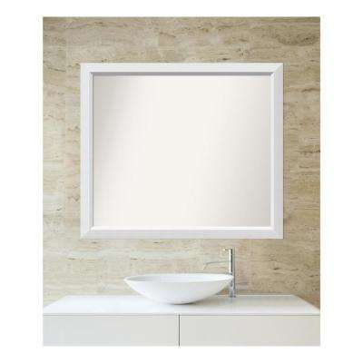 Choose Your Custom Size 33 in. x 38 in. Blanco White Wood Framed Mirror