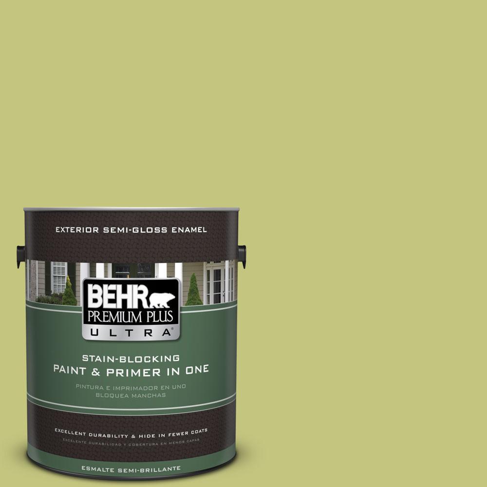 BEHR Premium Plus Ultra 1-gal. #P360-4 Soda Pop Semi-Gloss Enamel Exterior Paint