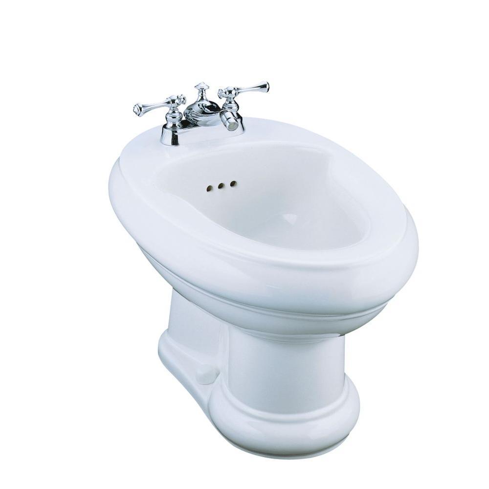 KOHLER Revival Centerset Bidet, Plumbed for Horizontal Spray Bidet Faucet In White-DISCONTINUED
