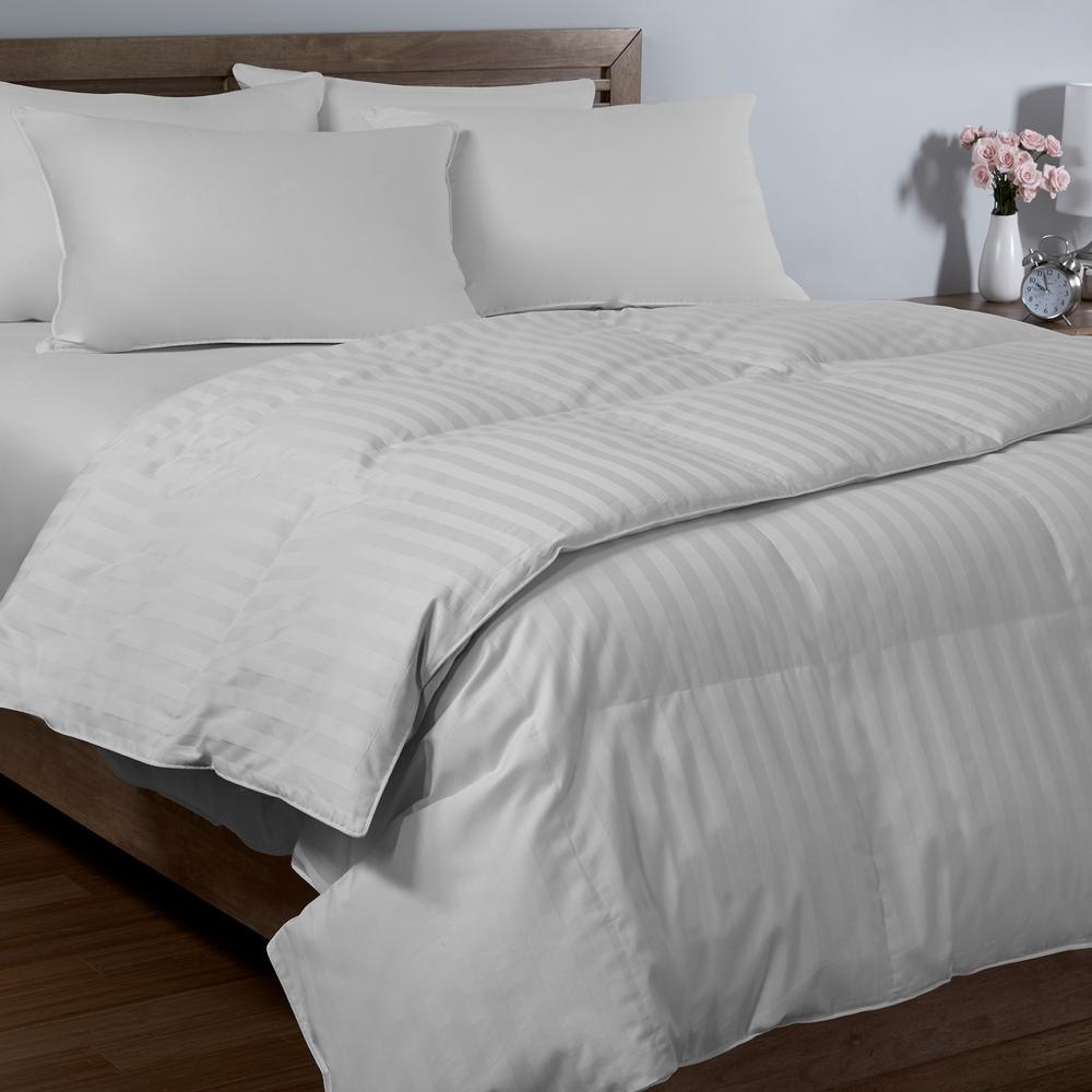 Dobby Stripe Twin Arctic Fresh Down Comforter
