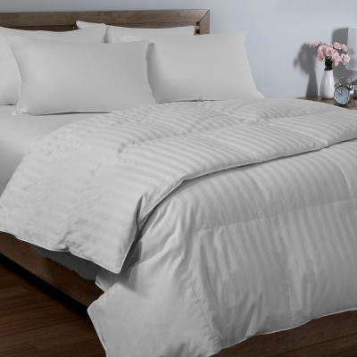 Dobby Stripe Full/Queen Arctic Fresh Down Comforter