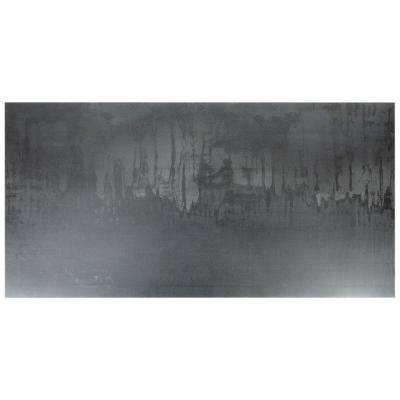 Metallic Dark Gray 24 in. x 48 in. x 8mm Matte Porcelain Floor and Wall Tile (2 pieces / 15.49 sq. ft. / box)