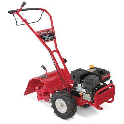 Super Bronco 16 in  208 cc OHV Engine Rear-Tine Counter-Rotating Gas Tiller  with One Hand Operation and Power Reverse