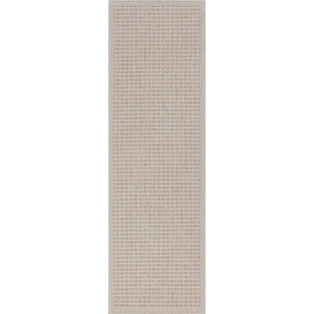 Tayse Rugs Denver Cream 2 Ft X 7 Ft Basketweave Polypropylene Runner Rug Den1001 2x8 The Home Depot