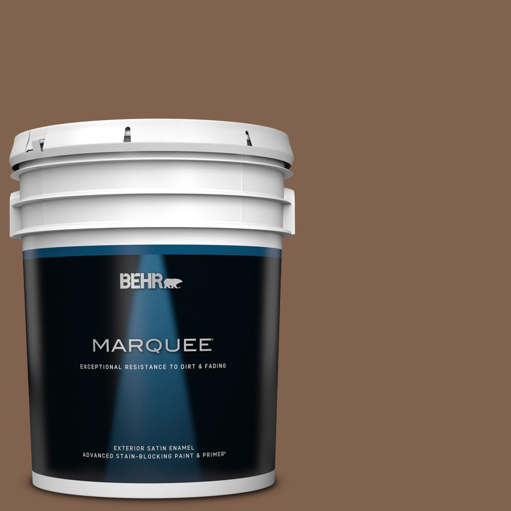 Behr Marquee Home Decorators Collection 5 Gal Hdc Sp14 6 Tilled Earth Satin Enamel Exterior Paint And Primer 945305 The Home Depot