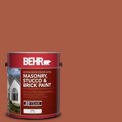 1 gal. #M190-7 Colorful Leaves Satin Interior/Exterior Masonry, Stucco and Brick Paint