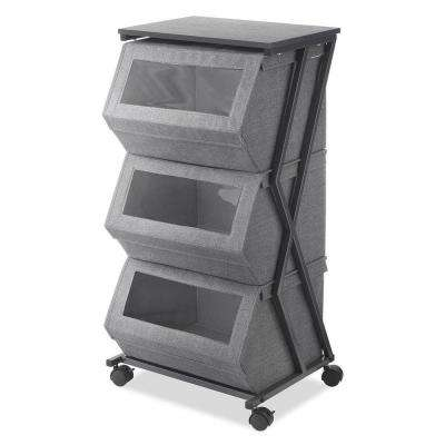 Stackable Window Box Cart In Gray