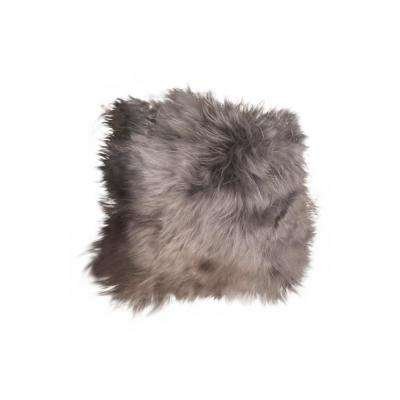 Icelandic Gray Brisa 15 in. x 15 in. Sheepskin Chair Pad