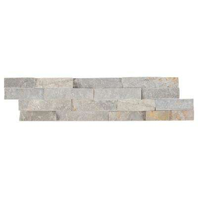 Sunset Silver Splitface Ledger Panel 6 in. x 24 in. Natural Quartzite Wall Tile (10 cases / 60 sq. ft. / pallet)