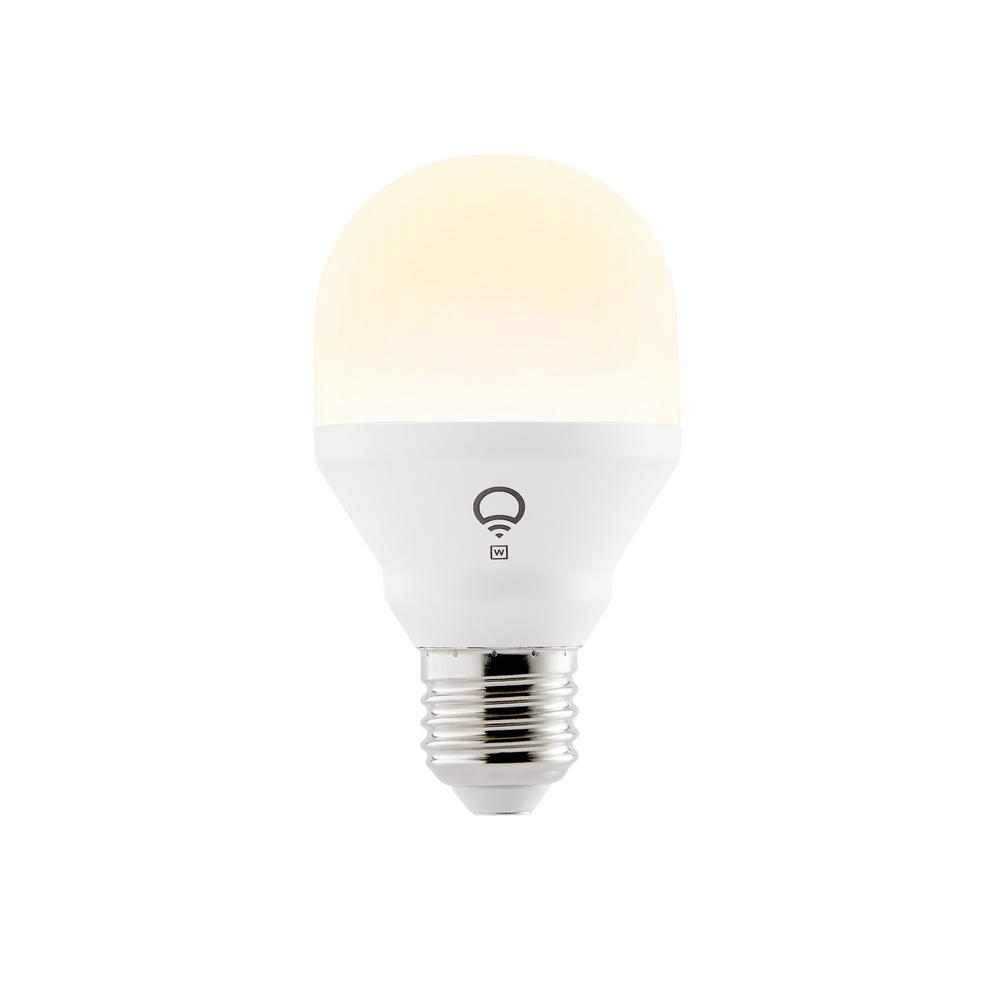 50-Watt Equivalent A19 Mini Dimmable Smart Connected LED Light Bulb, White