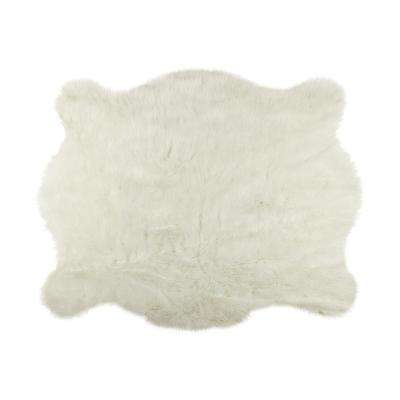 Luxe L 100 Faux Fur Area Rugs The Home Depot