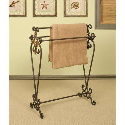 Oil-Rubbed Bronze Scroll Quilt Rack