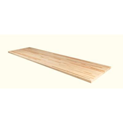 Unfinished Maple 6 ft. L x 36 in. D x 1.5 in. T Butcher Block Island Countertop