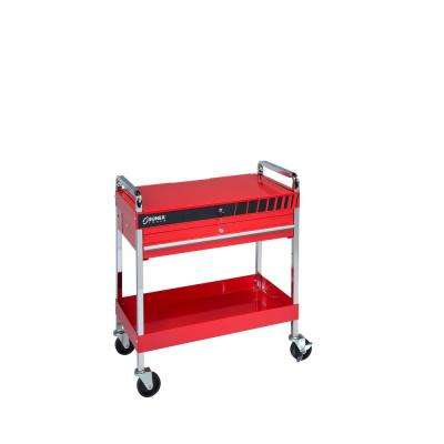 11 in. 1-Drawer Utility Cart in Red