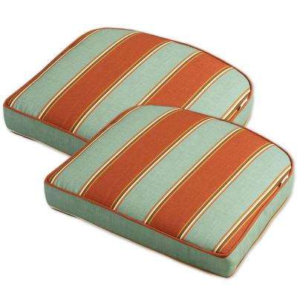 Cayenne Stripe Outdoor Chair Cushion (2-Pack)