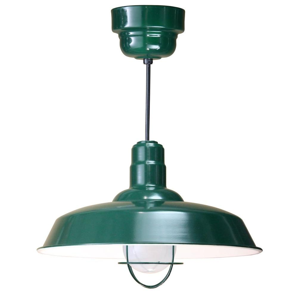 Illumine 1-Light Ceiling Green Fluorescent Pendant