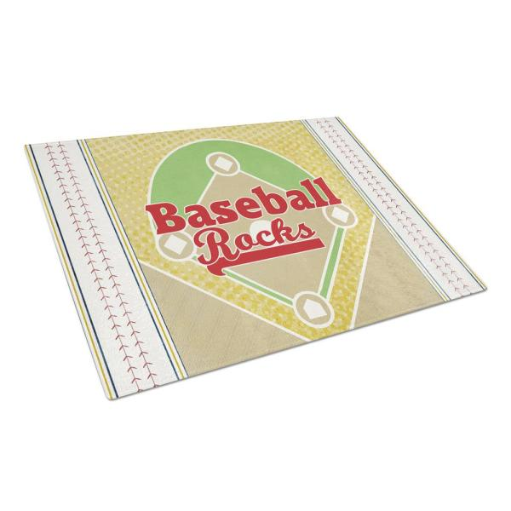 Caroline's Treasures Baseball Rules Tempered Glass Large Cutting Board