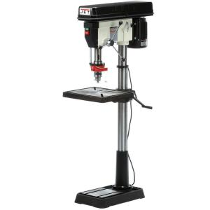 JET 1.5 HP 20 inch Floor Standing Drill Press with Worklight, 12-Speed, 115/230-Volt, JDP-20MF by JET