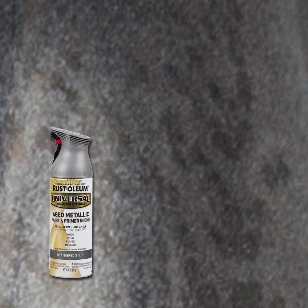 Rust Oleum Universal 12 Oz All Surface Aged Metallic