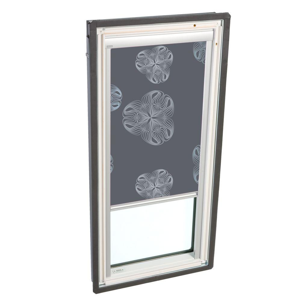 VELUX Nature Metallic Gray Solar Powered Blackout Skylight Blinds for FS D26 Models-DISCONTINUED