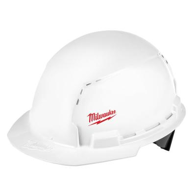 BOLT White Type 1 Class C Front Brim Vented Hard Hat with Small Logo