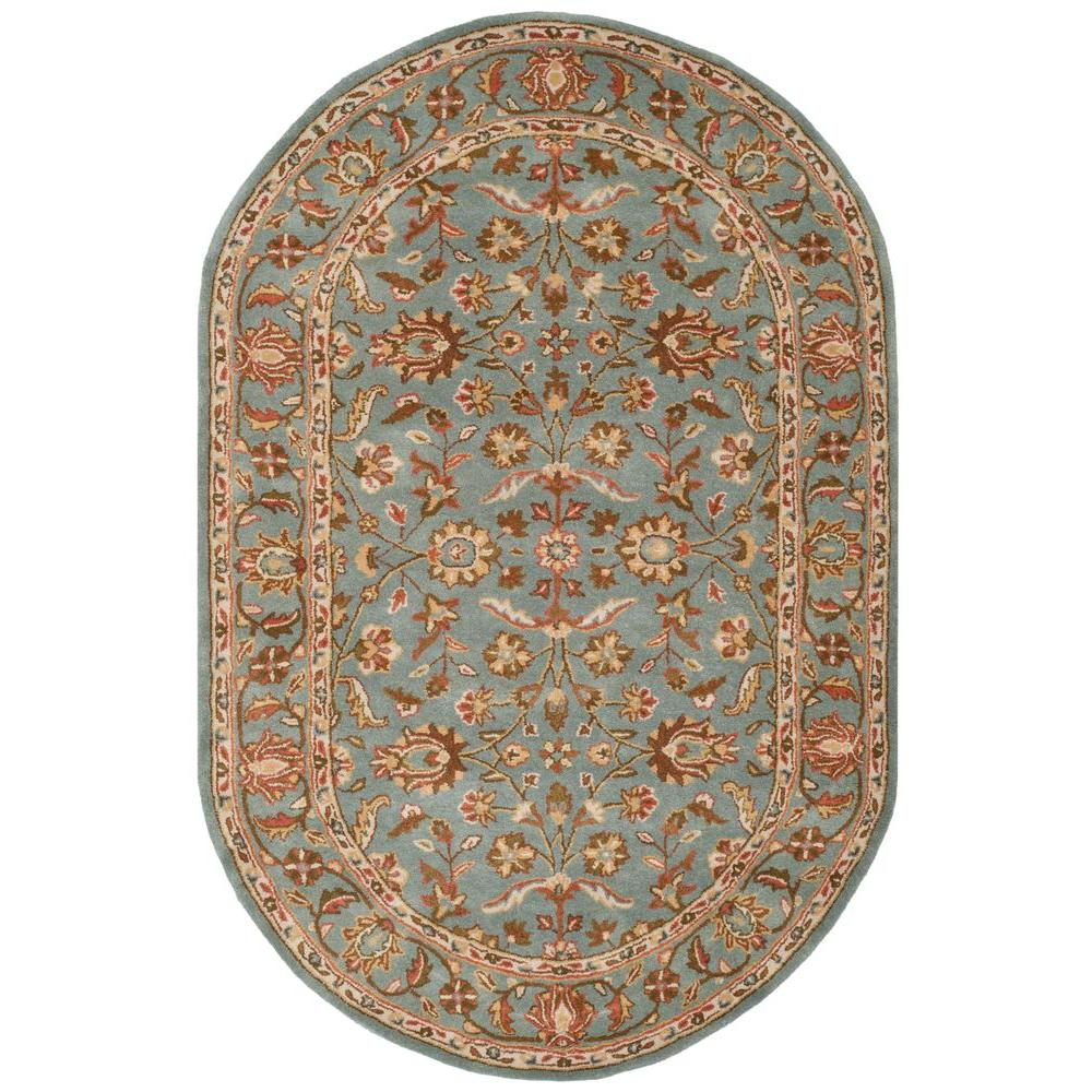 Safavieh Heritage Blue 5 Ft. X 8 Ft. Oval Area Rug-HG969A