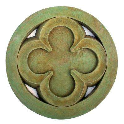 Cast Stone Gothic Quatrefoil Stepstone Weathered Bronze