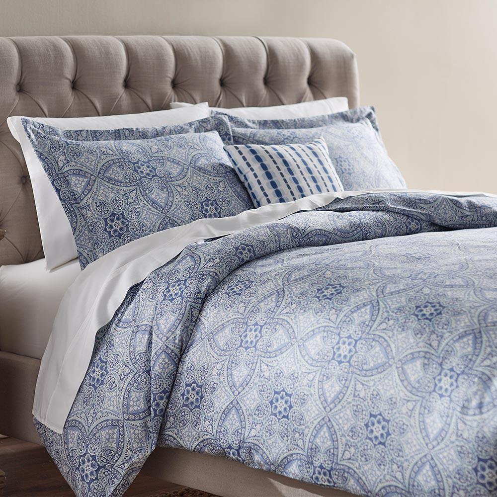 Home Decorators Collection Alfresco Blue Queen Duvet