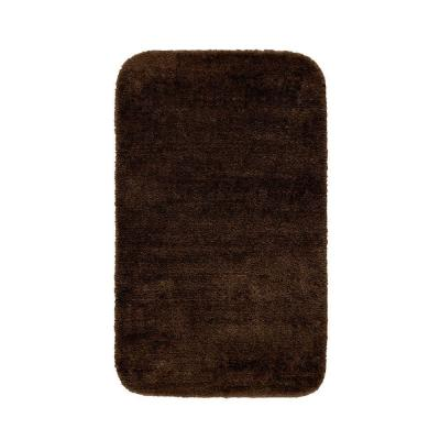 Traditional Chocolate 30 in. x 50 in. Washable Bathroom Accent Rug