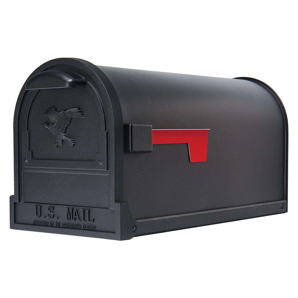 Gibraltar Mailboxes Arlington Premium Steel Post-Mount Mailbox, Black