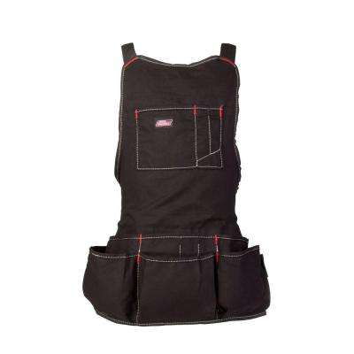 16-Pocket Light-Weight Tool / Work Bib Apron, Black