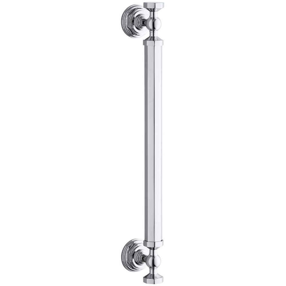 Pinstripe 2-3/4 in. x 14 in. Shower Door Handle in Bright