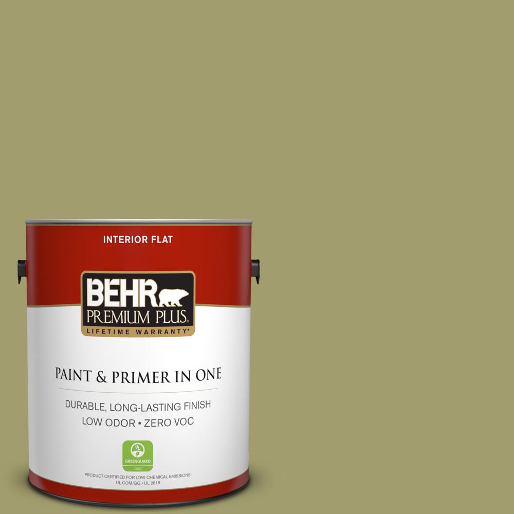 BEHR Premium Plus 1-gal. #S340-5 Farm Fresh Flat Interior Paint