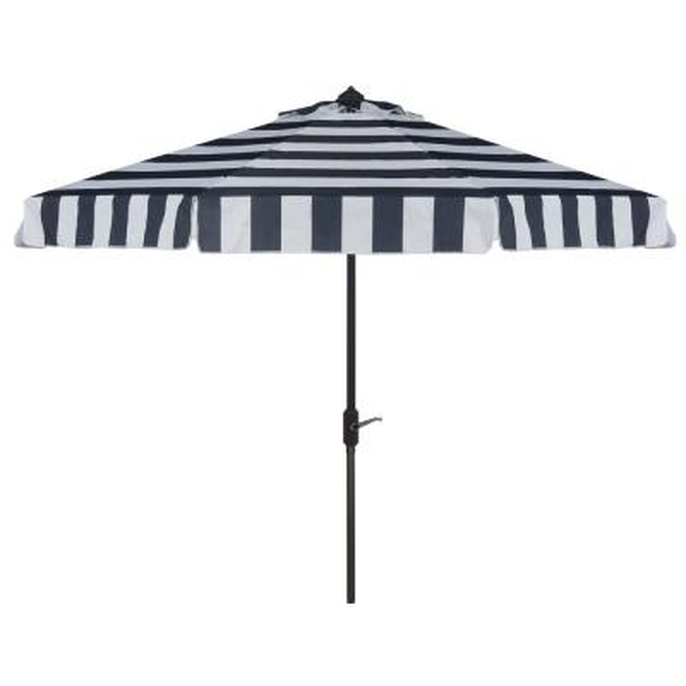 Elsa 11 ft. Aluminum Market Tilt Patio Umbrella in Navy/White