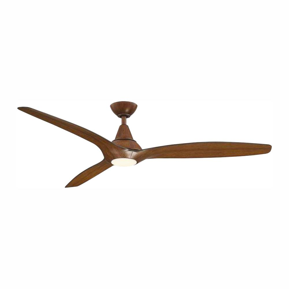 Home Decorators Collection Tidal Breeze 60 in. LED Indoor Distressed Koa Ceiling Fan with Light Kit and Remote Control