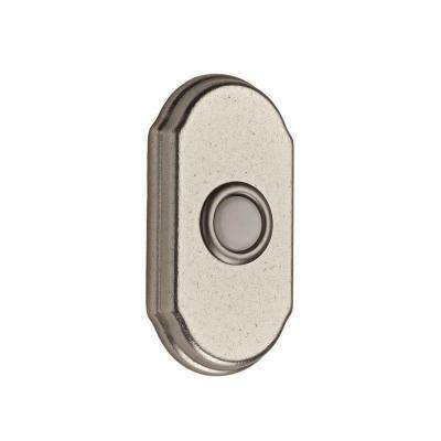 Wired Arch Bell Button - White Bronze