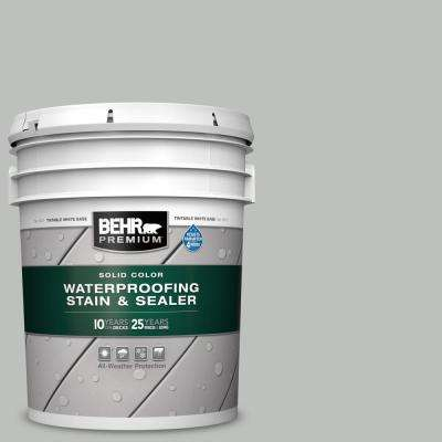 5 gal. #SC-365 Cape Cod Gray Solid Color Waterproofing Exterior Wood Stain and Sealer