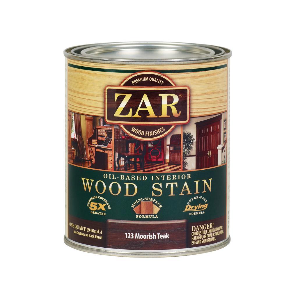 123 1 qt. Moorish Teak Wood Stain (2-Pack)