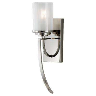 Finley 4.75 in. W. 1-Light Polished Nickel Sconce