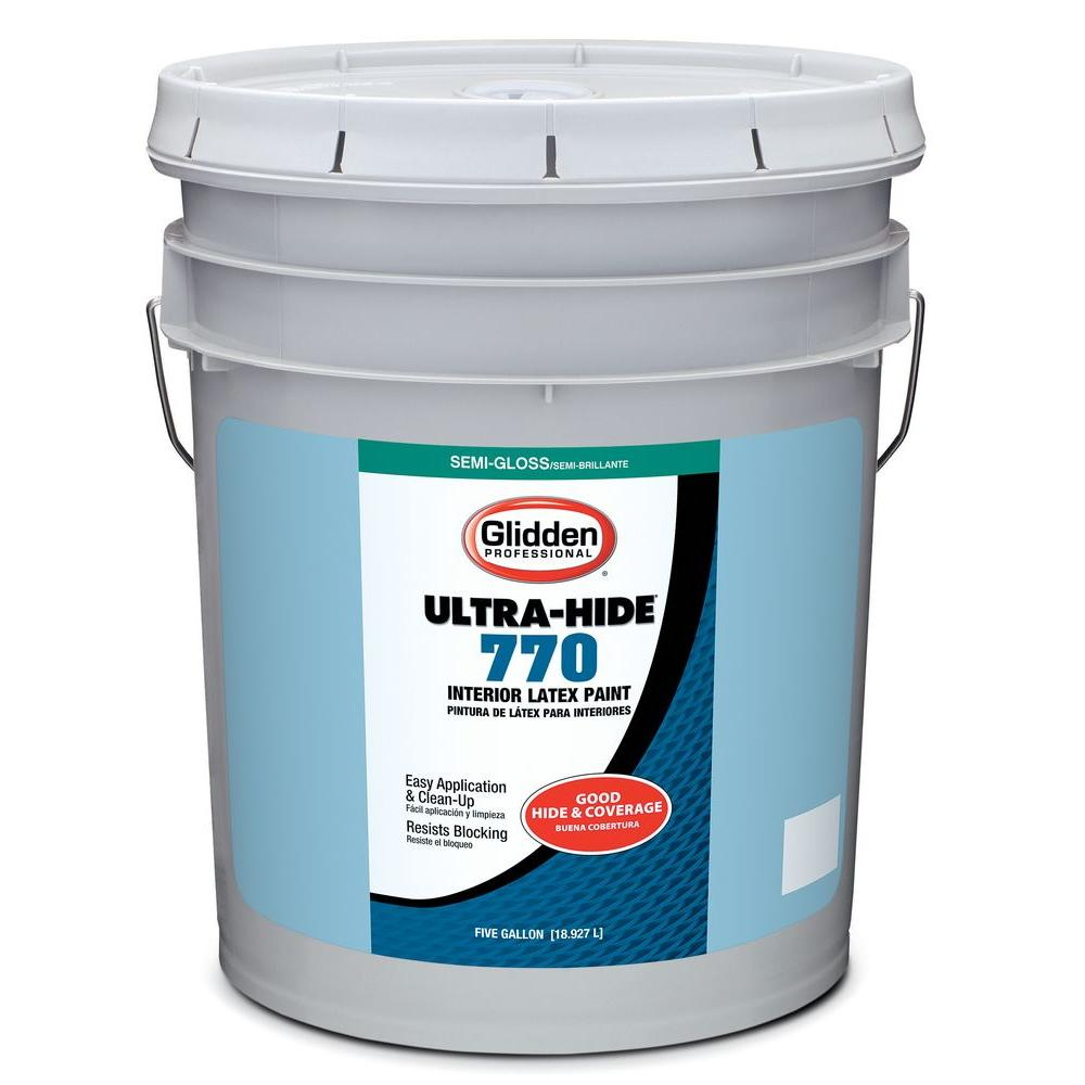 Glidden Professional 5-gal. Ultra Hide 770 Semigloss Interior Paint