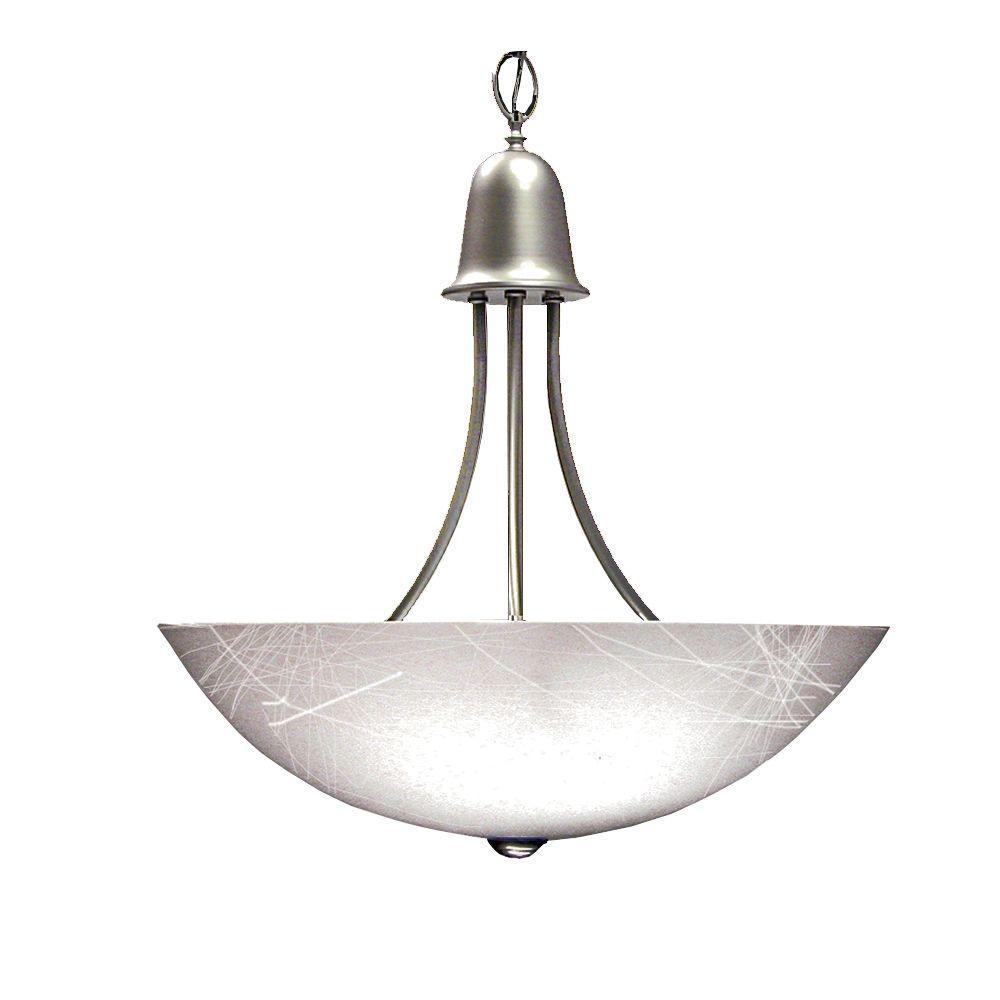 Marquis Lighting 3-Light Satin Chrome Pendant