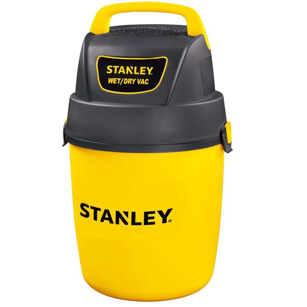 Stanley 2 Gal. Wall Mount Wet/Dry Vacuum, Multi This is 2 Gal. wet and dry vacuum. It is a Wall-mount design for easy storage. It is 2 Gal. poly container. Color: Multi.