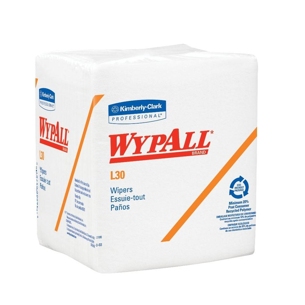 WYPALL L30 White Quarterfold Wipers (12 Boxes of 90 Wipers)